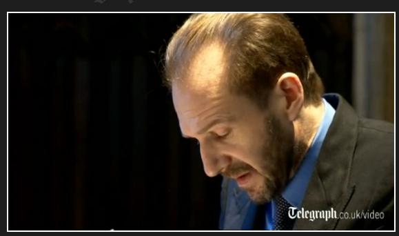 Ralph Fiennes at Dickens' Memorial
